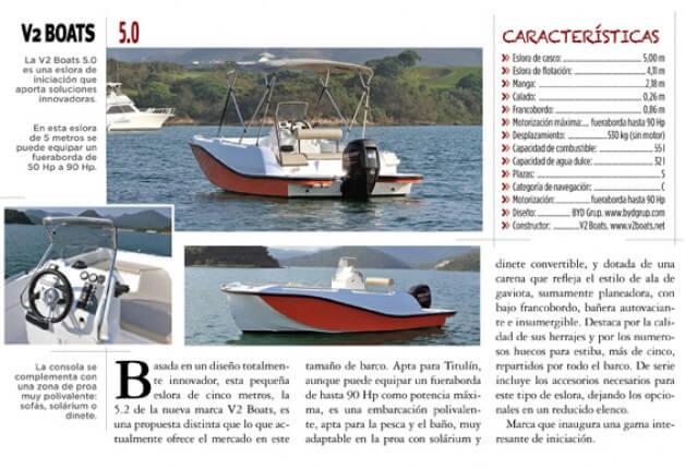 V2 Boats en la revista Náutica y Yates